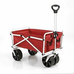 YSC Wagon Garden Folding Utility Shopping Cart,Beach