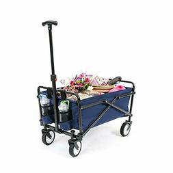 YSC Wagon Garden Folding Utility Shopping CartBeach Red Navy