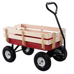 Outdoor Wagon ALL Terrain Pulling Children Kid Garden Cart w