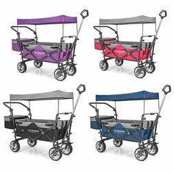 wonderfold push pull utility folding wagon