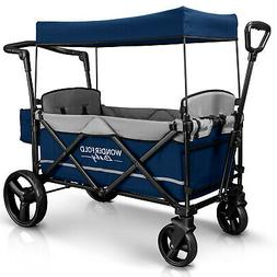 x2 push pull 2 passenger folding stroller
