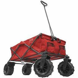 XXXL Monster All-Terrain Folding Wagon | Red