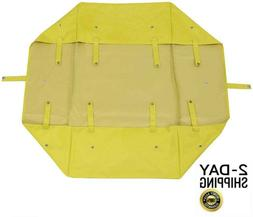 Yard Beach Outdoor Yellow Utility Cart Wagon Liner Folding H