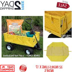 Yard Beach Outdoor Yellow Utility Cart Wagon Liner Folding H
